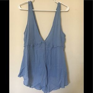 Tops - Intimately Free People Blue Tank size Small